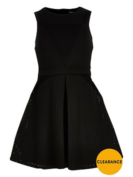 river-island-girls-black-laser-cut-mesh-dress