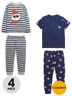 mini-v-by-very-boys-mr-cool-snowman-pyjamas-4-piece