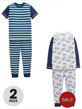 mini-v-by-very-boys-comic-stripe-pyjamas-2-pack