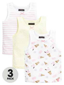 Mini V By Very Girls Ice Cream And Lollipop Vests (3 Pack)