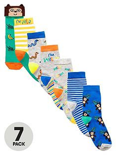 mini-v-by-very-boys-jungle-socks-7-pack