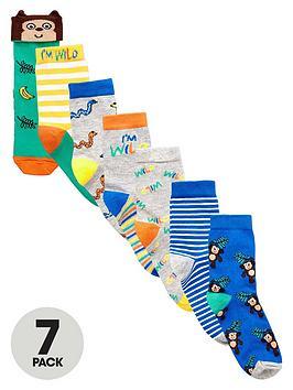 mini-v-by-very-boys-jungle-socks-7-pack