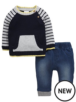 ladybird-baby-boys-knitted-jumper-and-jean-set