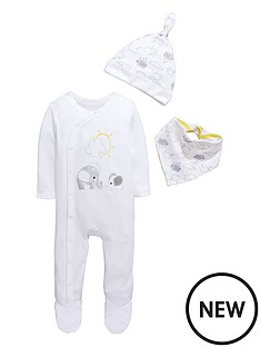 ladybird-baby-unisex-3pc-sleepsuit-hat-and-bib-gift-set