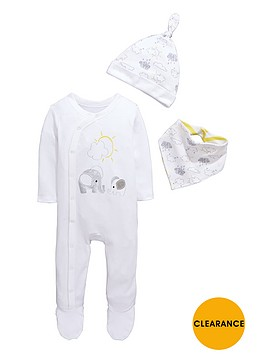 ladybird-baby-unisex-sleepsuit-hat-and-bib-gift-set-3-piece