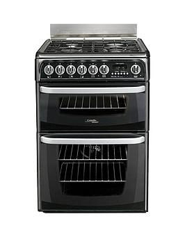 cannon-by-hotpointnbspch60dhkfs-60cmnbspelectric-double-oven-cookernbspand-gas-hob-with-fsd-black
