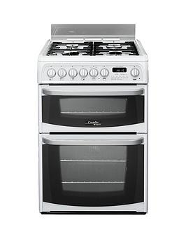 Cannon Ch60Dhwfs 60Cm Double Oven Electric Cooker With Gas Hob  White