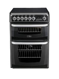 cannon-by-hotpointnbspch60ekksnbsp60cm-double-oven-electric-cooker-with-ceramicnbsphob-black
