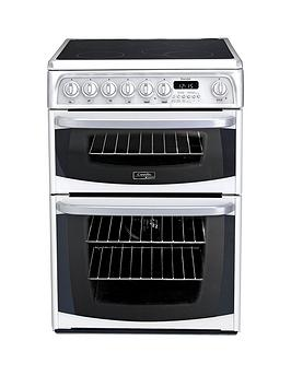 Cannon Ch60Ekws 60Cm Electric Double Oven Cooker With Ceramic Hob  White