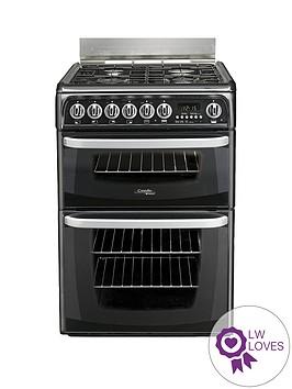 cannon-ch60gcik-60cmnbspdouble-oven-gas-cooker-with-gas-hob-black