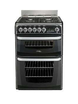 Cannon Ch60Gcik 60Cm Double Oven Gas Cooker With Gas Hob  Black