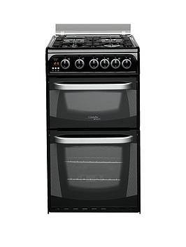 Cannon Ch50Gcik 50Cm Twin Cavity Gas Oven With Gas Hob  Black