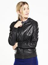 Premium Leather Bomber Jacket