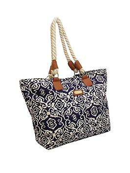 kangol-aztec-print-rope-handle-shopper