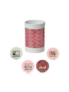 yankee-candle-pink-glitter-glow-electric-melt-warmernbspset