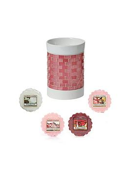 yankee-candle-pink-glitter-glow-electric-melt-warmernbspset