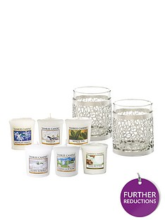 yankee-candle-matrix-brushed-silver-votive-holders-and-set-of-6-votives