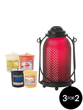 yankee-candle-glass-lantern-and-4-votive-collection
