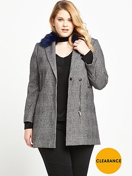 v-by-very-curve-dogtooth-contrast-fur-coat