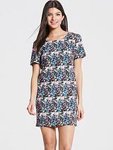 Girls On Film Floral Print Tunic Dress
