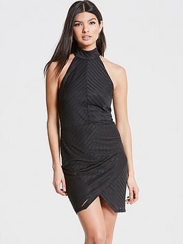girls-on-film-girls-on-film-black-halter-neck-dress-with-wrap-skirt