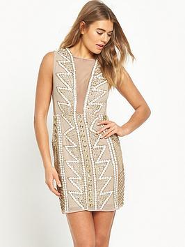 maya-embellished-mesh-v-neck-mini-dress