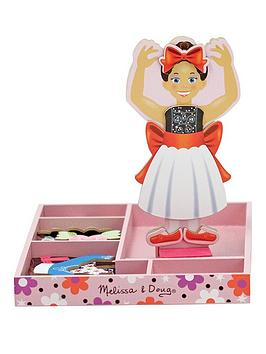 Melissa & Doug Melissa & Doug Nina Ballerina Magnetic Wooden Dress-Up Doll Picture