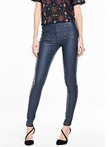 Coated Skinny Jean With Zips