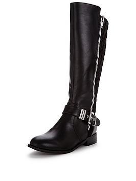 v-by-very-arleene-buckle-detail-knee-boot-black