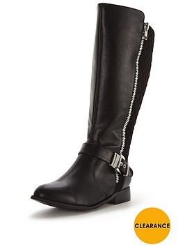v-by-very-arleene-extra-wide-fit-buckle-detail-knee-boot-black