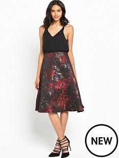 ax-paris-2-in-1-midi-printed-dress