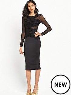 ax-paris-ax-paris-crotchet-front-panel-bodycon-dress