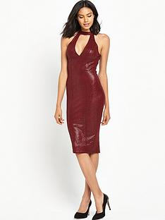 ax-paris-high-neck-midi-bodycon-dress