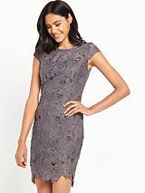 Crochet Mini Dress - Grey