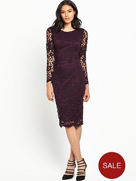 ax-paris-long-sleeve-crochet-dress-plum
