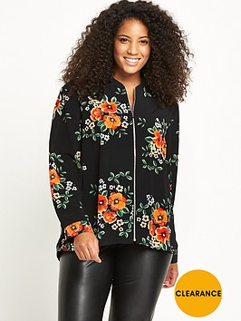 v-by-very-curve-zip-through-shirt-bomber-floral-print