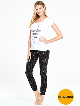v-by-very-sparkle-all-the-way-short-sleeved-pyjama-set