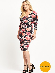 v-by-very-curve-v-neck-scuba-bodycon-dress-floral-print