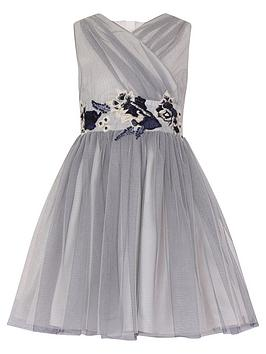 little-misdress-gathered-front-mesh-dress-with-embroidery-waist-trim