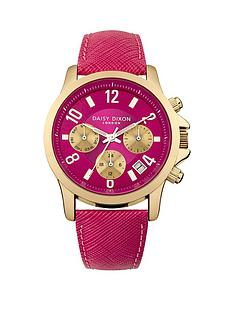 daisy-dixon-adriana-pink-gold-detail-multi-dial-pink-leather-strap-ladies-watch