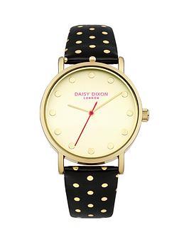 daisy-dixon-candice-gold-dial-black-gold-polka-dot-pu-strap-ladies-watch