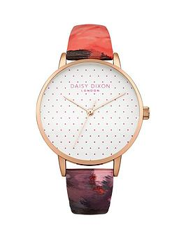 daisy-dixon-suki-white-polka-dot-dial-printed-gloss-leather-strap-ladies-watch