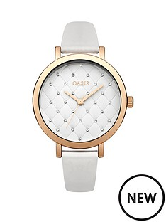 oasis-oasis-white-quilted-dial-white-pu-strap-ladies-watch