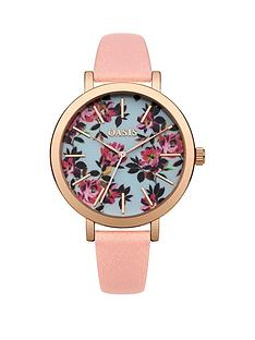 oasis-oasis-floral-printed-dial-pink-pu-strap-ladies-watch
