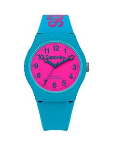 superdry-superdry-urban-pink-dial-teal-silicone-strap-unisex-watch