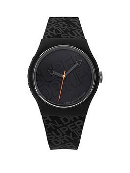 superdry-superdry-urban-black-dial-black-logo-printed-silicone-strap-unisex-watch