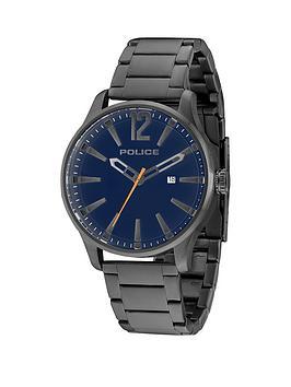 police-police-dallas-blue-dial-gun-stainless-steel-bracelet-mens-watch