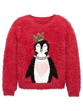 v-by-very-girls-penguin-novelty-eyelash-jumper