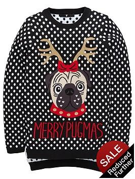 v-by-very-girls-pug-reindeer-novelty-jumper
