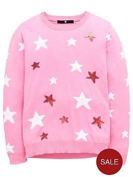 v-by-very-girls-star-knit-jumper
